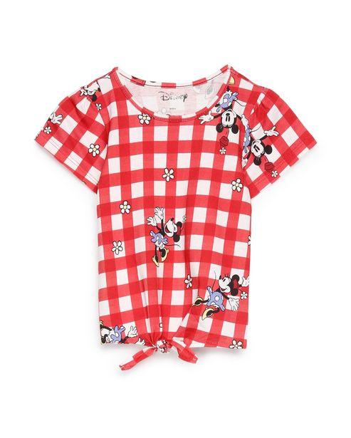 Oferta de Camiseta Manga Curta Minnie - Vermelho por R$19,9