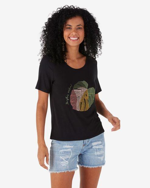 Oferta de Camiseta Manga Curta Simples Assim - Preto por R$29,9