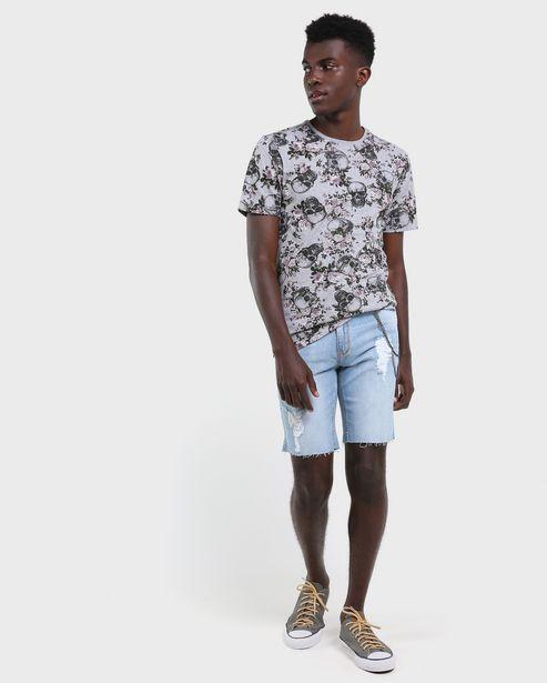Oferta de Bermuda Jeans Slim Correntes - Denim Claro por R$59,9