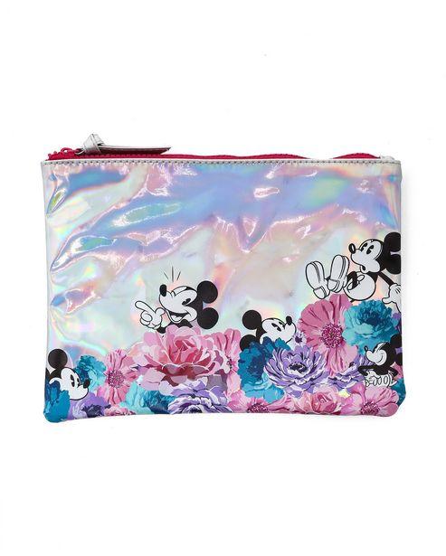 Oferta de Necessaire Holográfica Mickey Floral por R$9,9