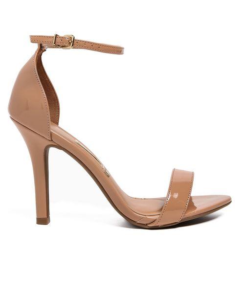 Oferta de Sandália Salto Fino Ankle Strap Verniz Vizzano por R$49,9