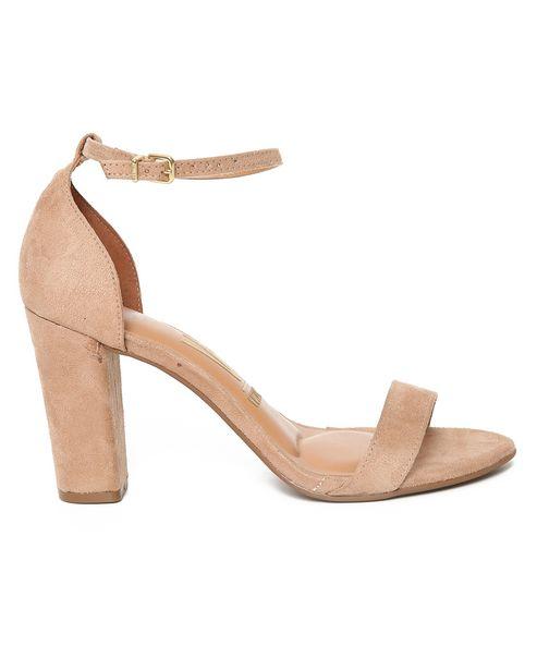 Oferta de Sandália Alta Ankle Strap Camurça Vizzano - Bege por R$59,9