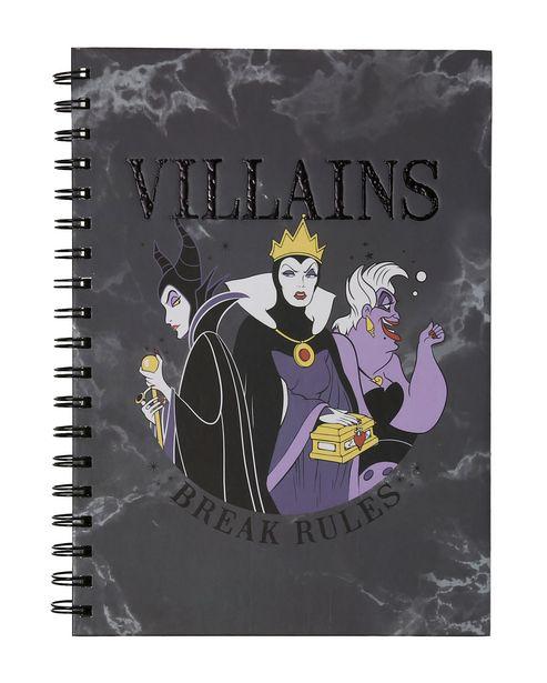 Oferta de Caderno Vilãs da Disney por R$15,9