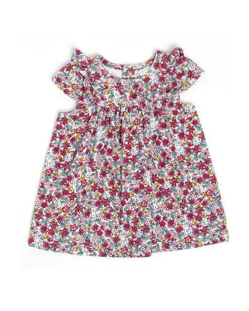 Oferta de Vestido Veludo Floral - Multicor por R$39,9