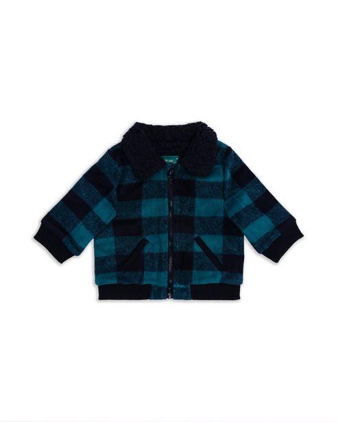 Oferta de Jaqueta Bebê Xadrez - Azul por R$79,9