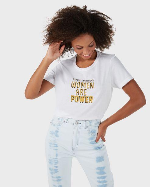 Oferta de Camiseta Woman Are Power - Branco por R$19,9