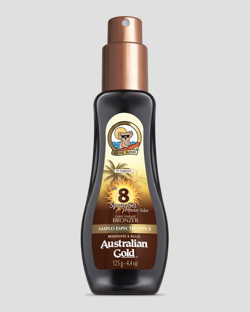 Oferta de Protetor Solar Corporal FPS 8 Spray Australian Gold 125ml por R$25,9