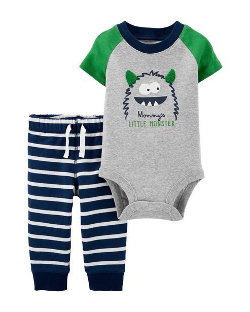 Oferta de Conjunto 2 Peças Mommy's Little Monster Carter's - Azul por R$65,9
