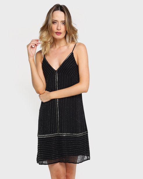 Oferta de Vestido Reto Bordado por R$99,9