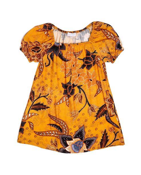 Oferta de Vestido Ombro A Ombro Floral - Amarelo por R$29,9