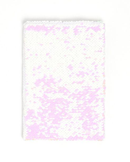 Oferta de Caderno de anotações Paetê Dupla Face - Multicor por R$19,9