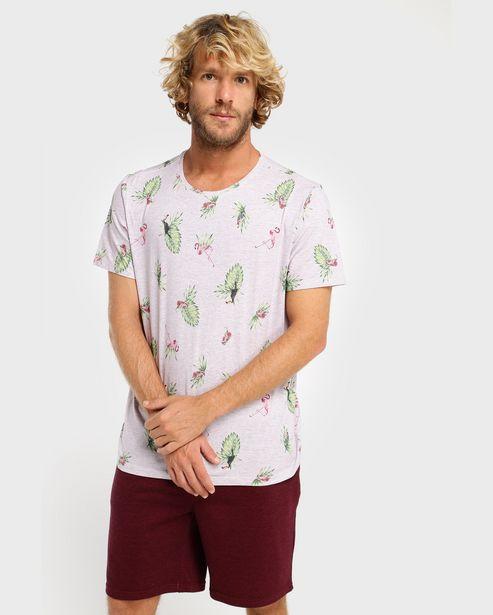 Oferta de Camiseta Malha Mescla Tropical por R$34,9