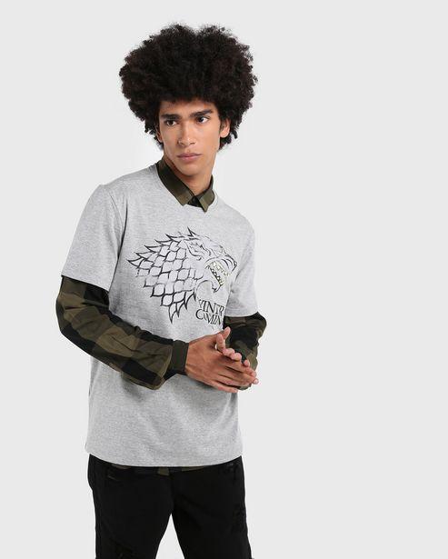 Oferta de Camiseta Winter is Coming Game of Thrones por R$29,9