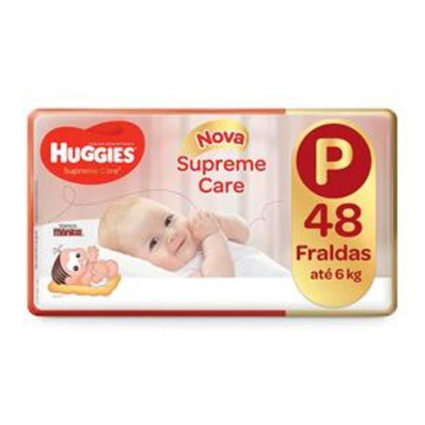 Oferta de Fralda Huggies Turma da Mônica Supreme Care Mega P - 48 Unidades por R$35,9
