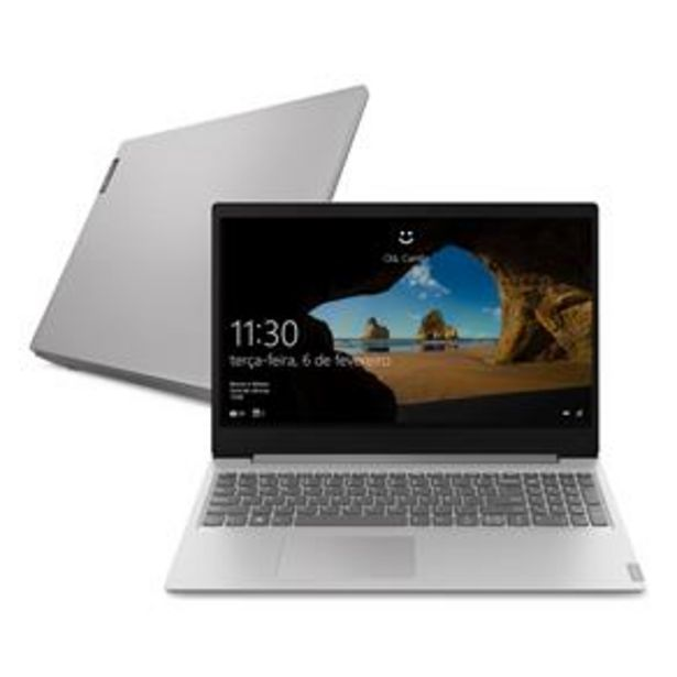 "Oferta de Notebook Lenovo Core i5-8265U 8GB 256GB SSD Placa de Vídeo 2GB Tela 15.6"" Windows 10 Ideapad S145 por R$3699"