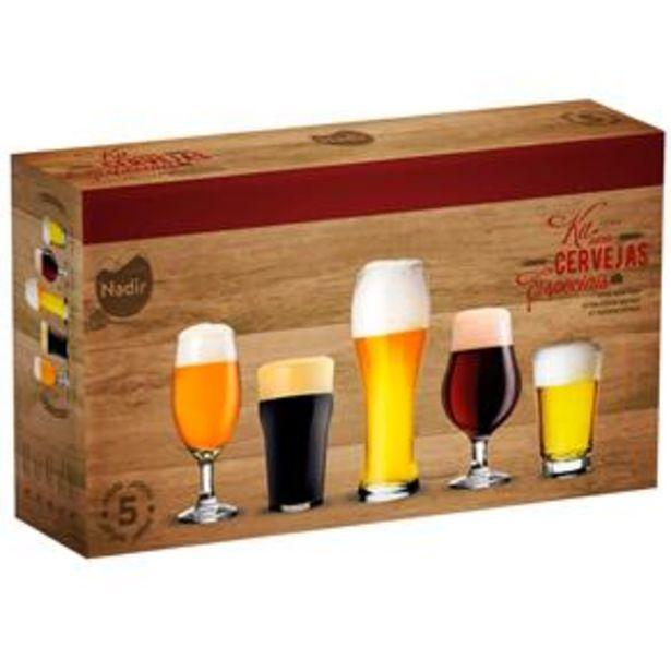 Oferta de Conjunto de Copos para Cervejas Especiais Nadir – 5 Peças por R$49,9