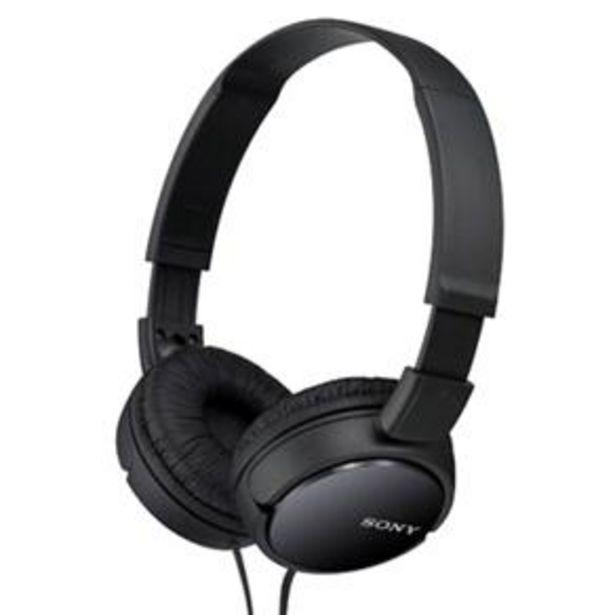 Oferta de Fone de Ouvido Sony MDR-ZX110 - Preto por R$74,14