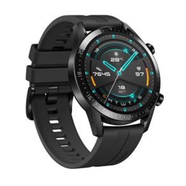 """Oferta de Smartwatch Huawei Watch GT 2 (46mm) Preto com Tela Amoled de 1.39"""", Bluetooth, GPS, Sensor de Frequência Cardíaca e Resistente à Água por R$1419"""
