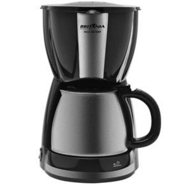 Oferta de Cafeteira Elétrica Britânia CP30 Temp - Preto/Aço Escovado por R$179,9