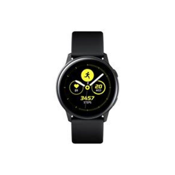 """Oferta de Smartwatch Samsung Galaxy Watch Active Preto com Tela Super Amoled de 1.1"""", Bluetooth, Wi-Fi, GPS, NFC e Sensor de Frequência Cardíaca por R$999"""