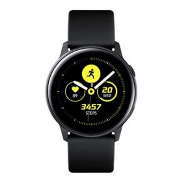 """Oferta de Smartwatch Samsung Galaxy Watch Active Preto com Tela Super Amoled de 1.1"""", Bluetooth, Wi-Fi, GPS, NFC e Sensor de Frequência Cardíaca por R$776,67"""
