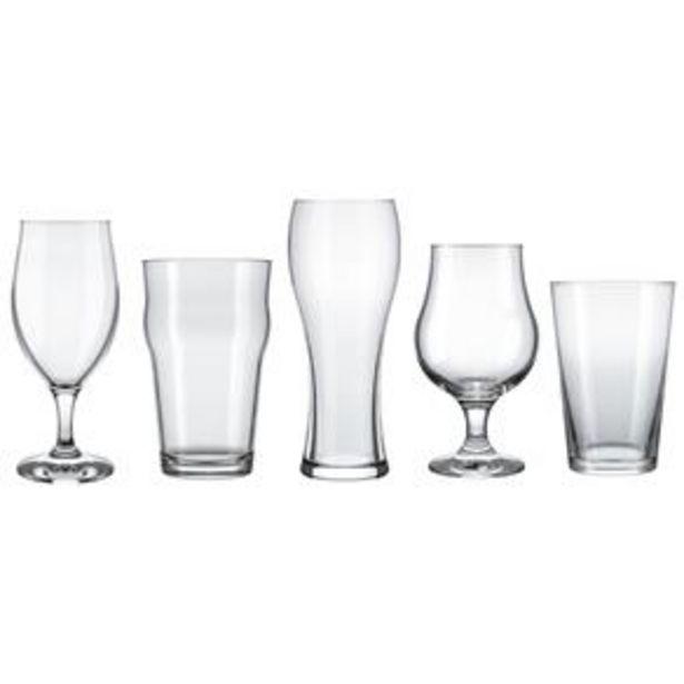 Oferta de Conjunto de Copos para Cervejas Especiais Nadir – 5 Peças por R$44,98