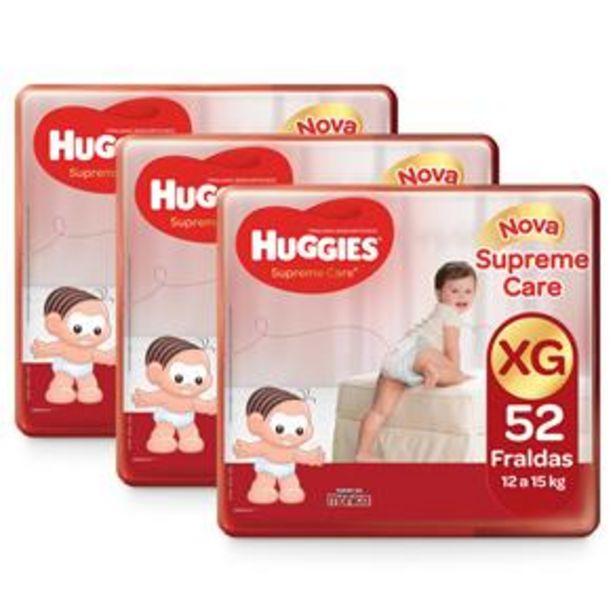Oferta de Fralda Huggies Turma da Mônica Supreme Care XG - Kit com 156 Unidades por R$167,7