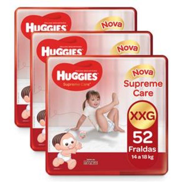 Oferta de Fralda Huggies Turma da Mônica Supreme Care XXG - Kit com 156 Unidades por R$149,7