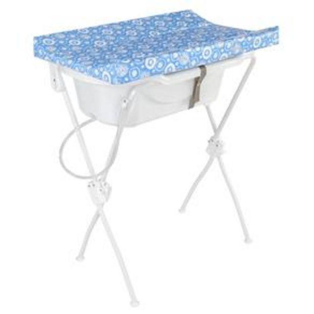 Oferta de Banheira para Bebê Com Trocador New Floripa - Tutti Baby - Azul por R$204,9