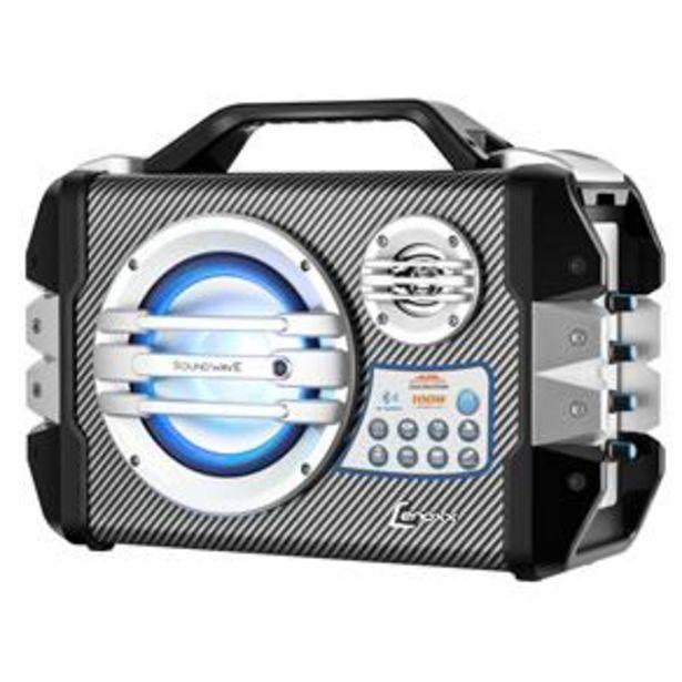 Oferta de Caixa Amplificada Lenoxx CA-305 com Conexão Bluetooth, Função Karaokê, Entrada Micro USB e Microfone Sem Fio – 100W por R$279