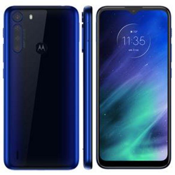 """Oferta de Smartphone Motorola One Fusion Azul Safira 128GB, Tela de 6.5"""", 4GB RAM, Câmera Traseira Quádrupla, Android 10 e Processador Qualcomm 710 por R$1499"""