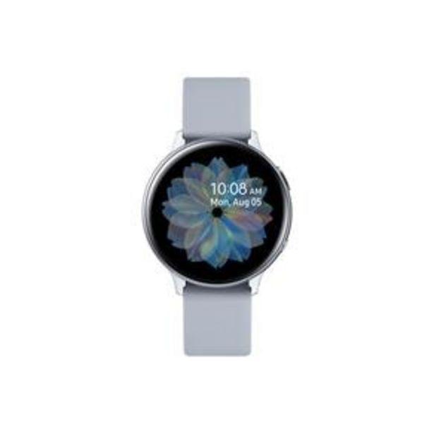 """Oferta de Smartwatch Samsung Galaxy Watch Active2 BT 44MM Prata com Tela Super Amoled de 1.4"""", Bluetooth, Wi-Fi, GPS, NFC e Sensor de Frequência Cardíaca por R$1110"""