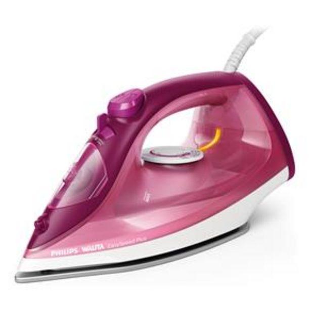 Oferta de Ferro de Passar a Vapor Philips Walita RI2146 EasySpeed Plus com Spray – Rosa por R$149,99
