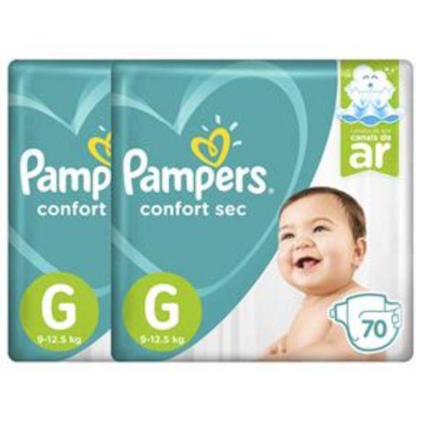 Oferta de Fralda Pampers Confort Sec Giga G - 140 Unidades por R$125,9