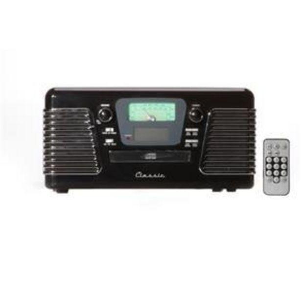 Oferta de Rádio Retrô Autorama Preto por R$1800