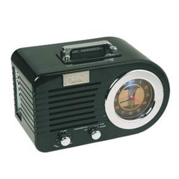 Oferta de Radio Relógio Classic Columbia Preto 32.861- Classic por R$485,9
