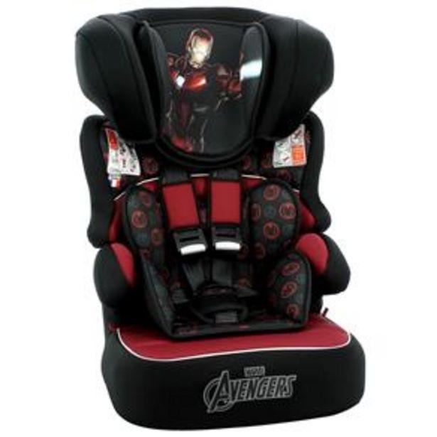 Oferta de Cadeira Para Automóvel Team Tex Marvel Homem de Ferro - 09 a 36kg - Preta por R$399,9