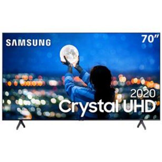 "Oferta de Smart TV LED 70"" UHD 4K Samsung 70TU7000 Crystal UHD, HDR, Borda Infinita, Controle Remoto Único, Bluetooth, Visual Livre de Cabos - 2020 por R$4599"