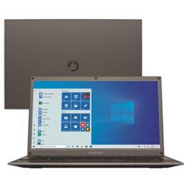 "Oferta de Notebook Positivo Dual Core 4GB 1TB Tela 14"" Windows 10 Motion C41TD por R$2399"