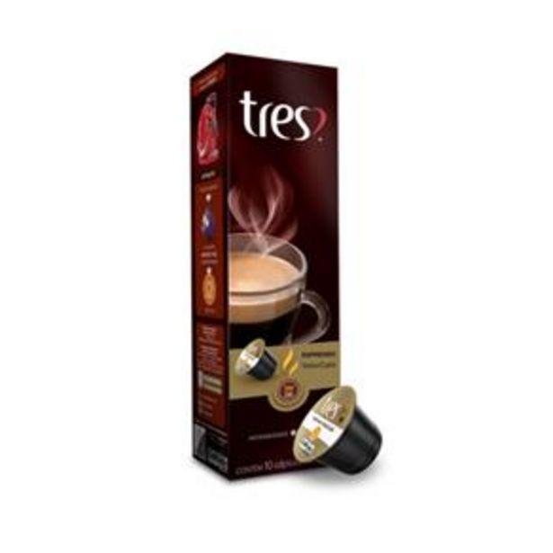 Oferta de Cápsula de café Espresso ValorCafé Três Corações (Cápsula de Café exclusiva Espresso ValorCafé Gourmet Especial TRES - 10 unidades) por R$12,9