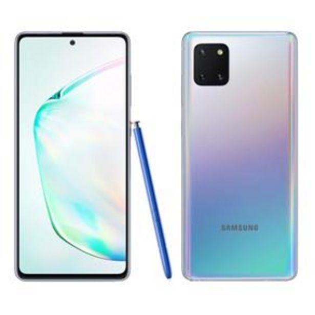 """Oferta de Smartphone Samsung Galaxy Note 10 Lite Prata 128GB, 6GB RAM, Tela de 6.7"""", Câmera Traseira Tripla, Caneta S-Pen e Leitor de Digital na Tela por R$2299"""