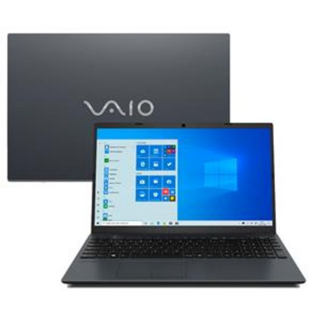 "Oferta de Notebook VAIO Core i5-10210U 8GB 1TB Tela 15.6"" Windows 10 FE15 VJFE52F11X-B0111H por R$3499"