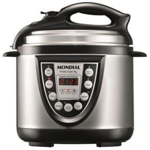 Oferta de Panela Elétrica de Pressão Mondial Pratic Cook 4L PE-09 - Preto/Inox por R$299,99