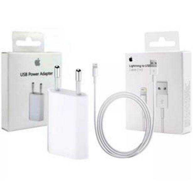 Oferta de Carregador Lightining iPhone 6 7 7 8 Plus X Xr Xs Max por R$43,99