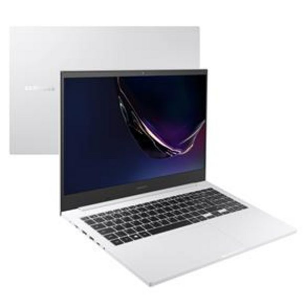 Oferta de Notebook Samsung Book E20 Intel Dual-Core 4GB 500GB 15.6'' Windows 10 Home NP550XCJ-KO2BR – Branco por R$2399