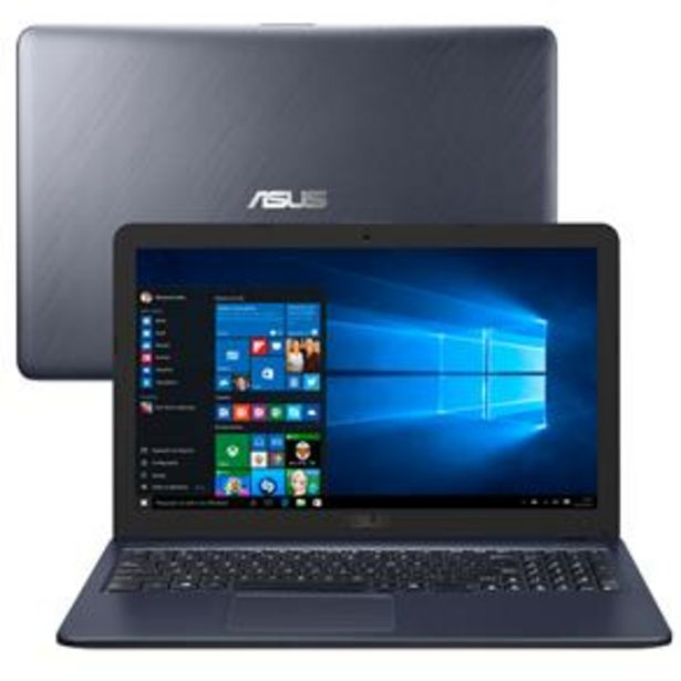 "Oferta de Notebook Asus Dual Core 4GB 500GB Tela 15.6"" Windows 10 X543MA-GQ956T por R$2399"