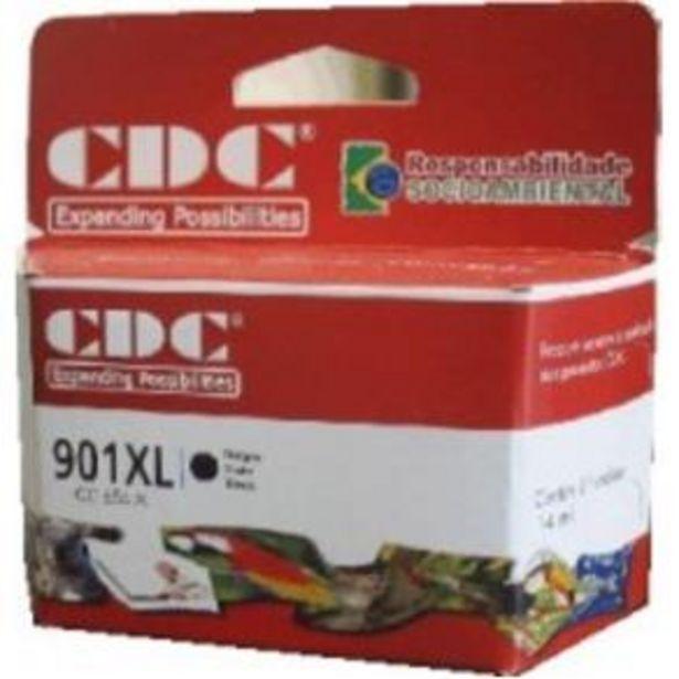 Oferta de Cartucho de Tinta CDC CD654AL (901XL) Preto - Compativel com CC654AL por R$52,8