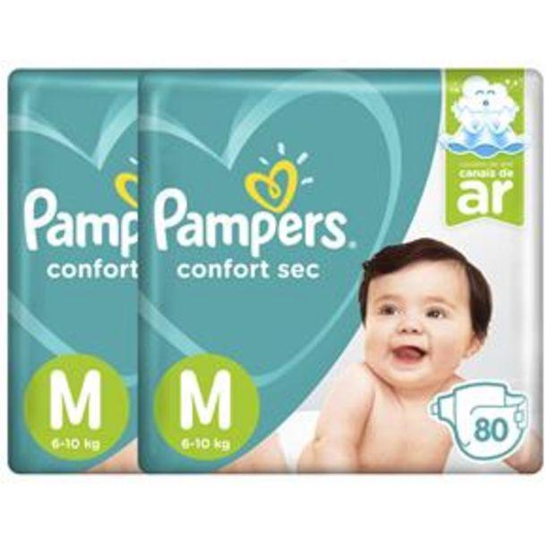 Oferta de Fralda Pampers Confort Sec Giga M - 160 Unidades por R$132,9