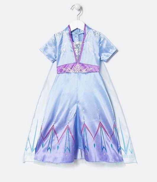 Oferta de Vestido Infantil Elsa - Tam 5 a 14  por R$89,9