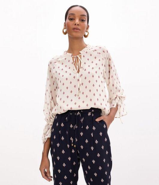 Oferta de Blusa Estampada com Amarração  por R$39,9